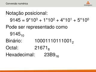 Conversão numérica