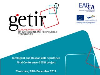 Intelligent  and  Responsible Territories Final  Conference  GETIR  project