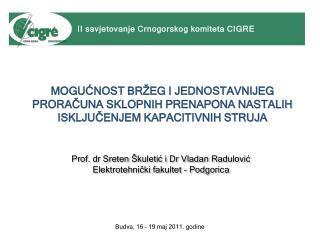 Prof.  dr Sreten Škuletić i Dr Vladan Radulović Elektrotehnički fakultet - Podgorica