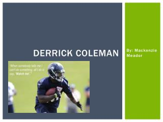 Derrick Coleman