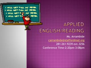 Applied English/Reading