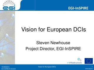 Vision for European DCIs