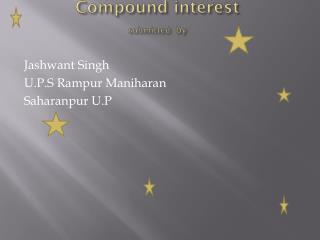 Compound interest submitted by