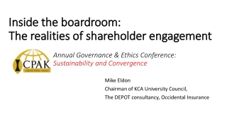OWNERS RESPONSIBILITIES IN PROMOTING CORPORATE GOVERNANCE-Perspective of Shareholders  Associations