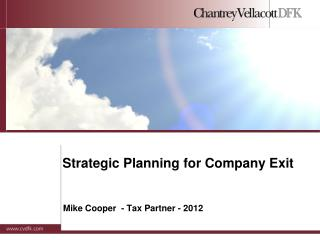 Strategic Planning for Company Exit