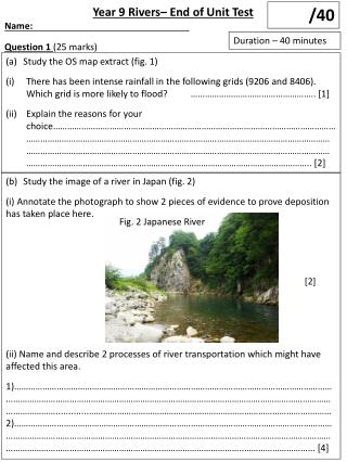 Study the image of a river in Japan (fig. 2)