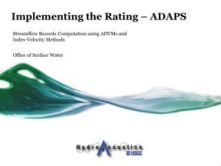 Implementing the Rating – ADAPS