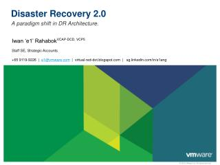 Disaster Recovery 2.0