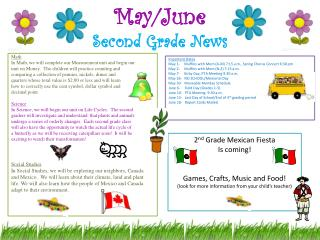 May/June Second Grade News