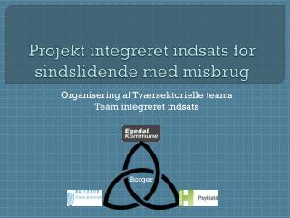 Projekt integreret indsats for sindslidende med misbrug