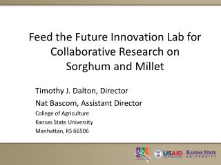 Feed the Future Innovation Lab for Collaborative Research on  Sorghum and Millet