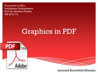 Graphics in PDF