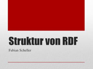 Struktur von RDF