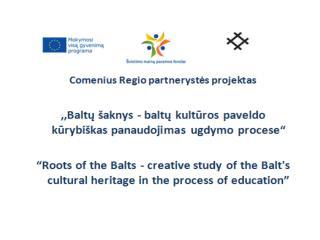Projekto pradžia 2012 m. rugsėjo 1 d. Projekto pabaiga 2014 m. liepos 31 d.  Projekto tikslas :