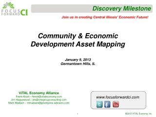 Community & Economic Development Asset Mapping