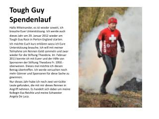 Tough Guy  Spendenlauf