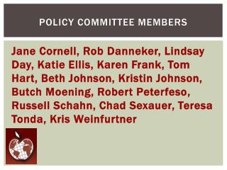 Policy Committee Members