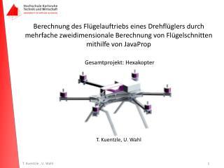 T.  Kuentzle , U. Wahl