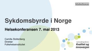 Sykdomsbyrde i Norge