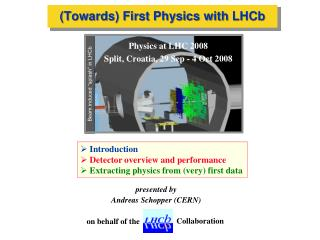 (Towards) First Physics with  LHCb