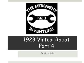 1923 Virtual Robot Part 4