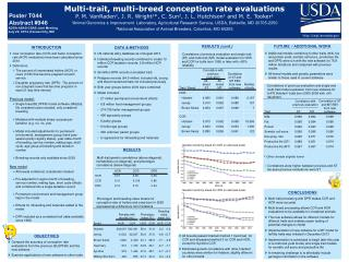 Multi-trait, multi-breed conception rate evaluations