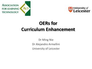 OERs for  Curriculum Enhancement