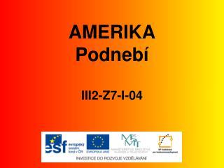 AMERIKA Podnebí III2-Z7-I-04