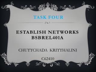Establish networks bsbrel401a