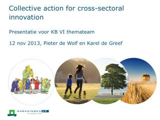 Collective  action  for  cross- sectoral innovation