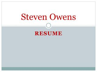 Steven Owens