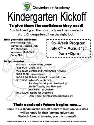 Kindergarten Kickoff