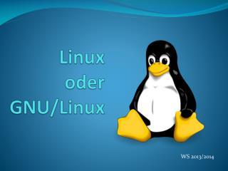 Linux  oder GNU/Linux
