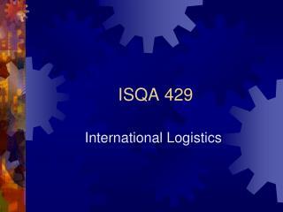 ISQA 429