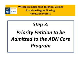 Wisconsin Indianhead Technical College Associate Degree Nursing  Admission Process