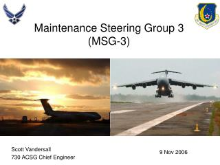 Maintenance Steering Group 3 MSG-3