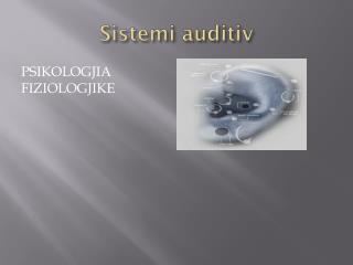 Sistemi auditiv