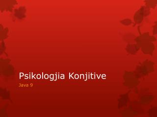 Psikologjia Konjitive