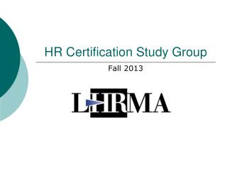 HR Certification Study Group