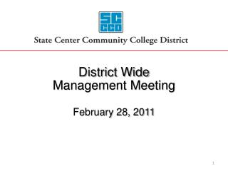 District Wide Management Meeting