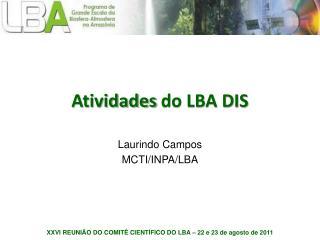 Atividades  do LBA DIS