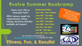 Starts  June 14th at  Greenlake  Park!!