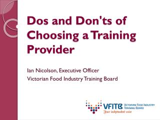 Dos and Don'ts of Choosing a Training Provider