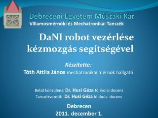 Debreceni Egyetem Műszaki Kar