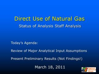 Direct Use of Natural Gas