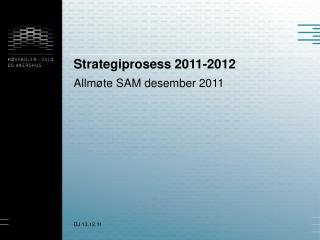 Strategiprosess 2011-2012