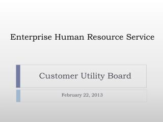 Enterprise Human Resource Service