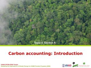 Carbon accounting: Introduction