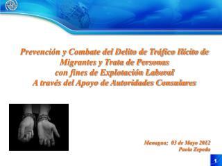 Prevención y Combate del Delito de Tráfico Ilícito de Migrantes y Trata de Personas