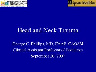 Head and Neck Trauma